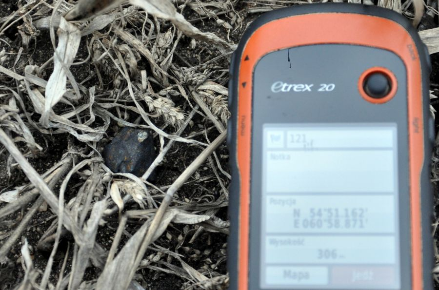 Chelyabinsk meteorite in situ