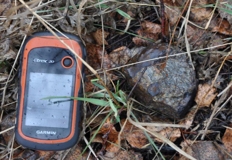 A 297 g meteorite in situ
